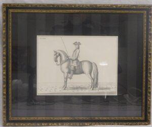 Tavla - stående Barockhäst