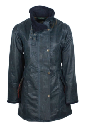 Katrina vaxed jacket- Oxford Blue